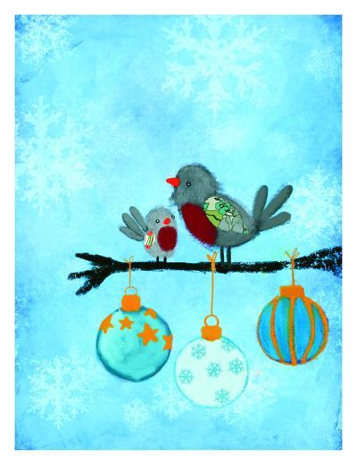 Birds With Ornaments-Advocate Art-Art Print
