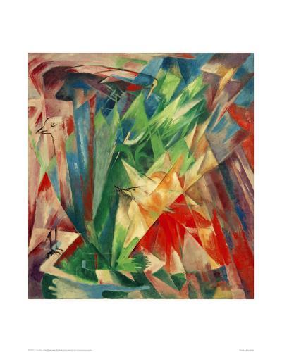 Birds-Franz Marc-Giclee Print