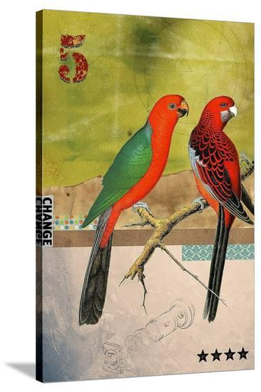 Birds-Elo Marc-Stretched Canvas Print