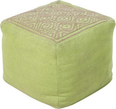 Birdseye Linen Cube Pouf - Key Lime (Sold Out)