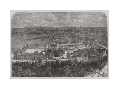 Birdseye View of Windsor Castle--Giclee Print