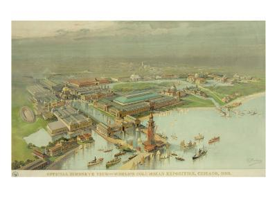 Birdseye View. World's Columbian Exposition, Chicago, 1893--Photo