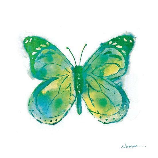 Birdsong Garden Butterfly I on White-Shirley Novak-Art Print