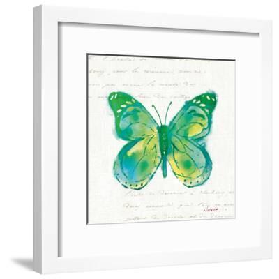 Birdsong Garden Butterfly I-Shirley Novak-Framed Art Print