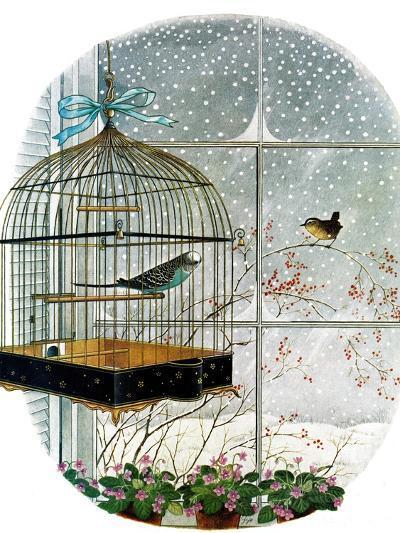 """""""Birdtalk,"""" January 6, 1962-Gyo Fujikawa-Giclee Print"""