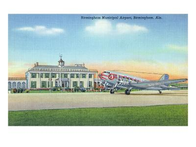 Birmingham, Alabama - View of the Municipal Airport-Lantern Press-Art Print