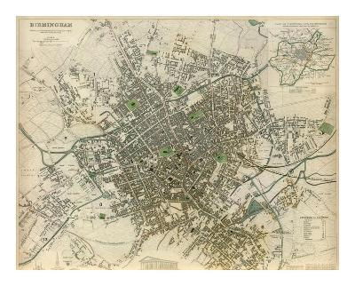 Birmingham, England, c.1839--Art Print