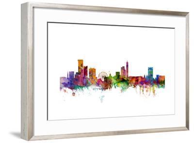 Birmingham England Skyline-Michael Tompsett-Framed Art Print