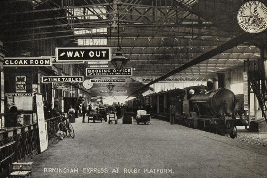 Birmingham Express at Rugby Platform--Photographic Print