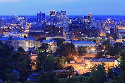 Birmingham Skyline at Twilight, Birmingham, Alabama, United States of America, North America-Richard Cummins-Photographic Print
