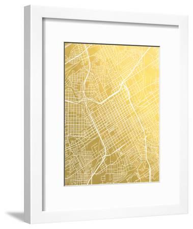 Birmingham-The Gold Foil Map Company-Framed Art Print