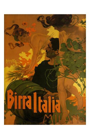 Birra Italia, c.1906-Adolfo Hohenstein-Art Print