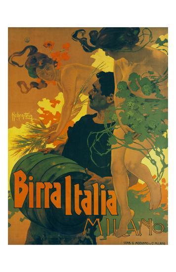 Birra Italia Milano-Adolfo Hohenstein-Art Print