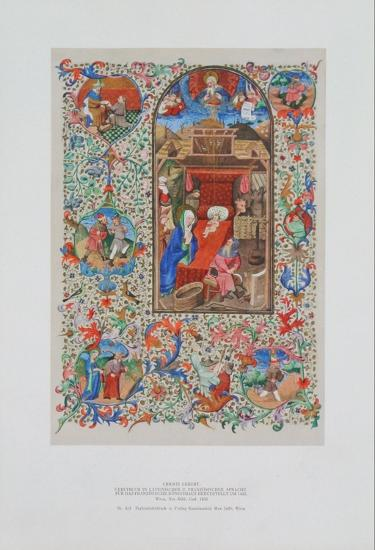 Birth of Christ - Prayer Book about 1450--Collectable Print