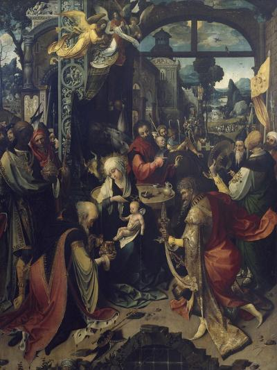 Birth of Jesus, Central Panel of Triptych-Jan de Beer-Giclee Print