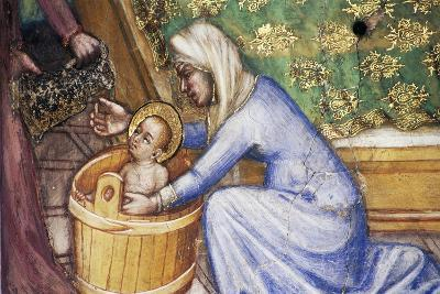 Birth of Mary, Detail from Fresco Cycle Stories of Virgin-Ottaviano Nelli-Giclee Print