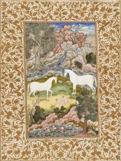Birth of the Celestial Twins, c.1585-90-Mughal School-Giclee Print