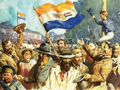 Birth of the Union of South Africa-James Edwin Mcconnell-Giclee Print