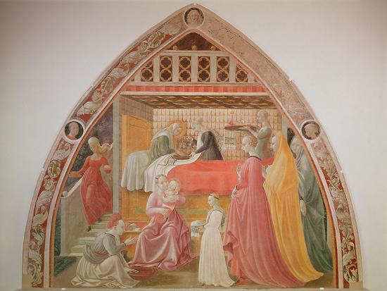 Birth of the Virgin, Cycle of the Lives of the Virgin and St. Stephen, Cappella Dell'Assunta-Paolo Uccello-Giclee Print