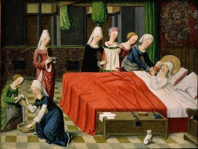 Birth of the Virgin Mary, from Scenes from the Life of the Virgin Mary (Detail)- Master of Aquisgrana-Giclee Print