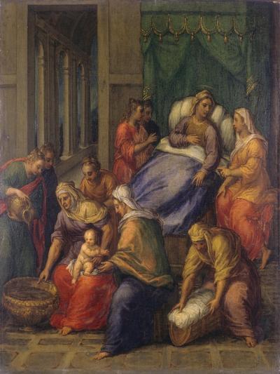 Birth of the Virgin Mary (Nascita Di Maria Vergine)-Sebastiano Filippi (Bastianino)-Giclee Print