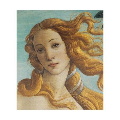 Birth of Venus, Head of Venus-Sandro Botticelli-Art Print