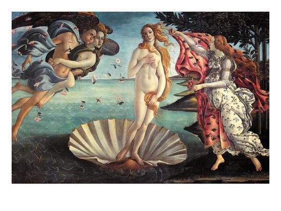 Birth of Venus-Sandro Botticelli-Art Print