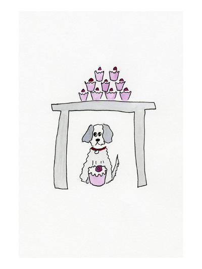 Birthday Cupcake Puppy--Art Print