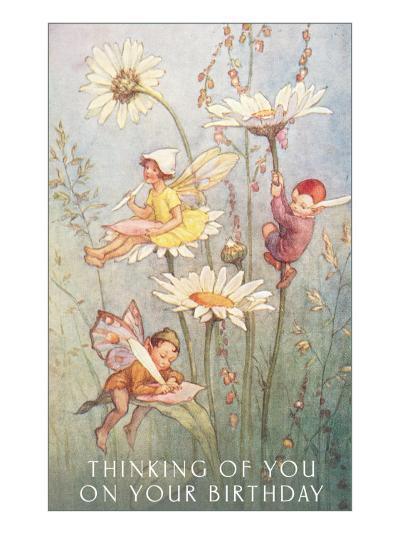 Birthday Fairies--Art Print