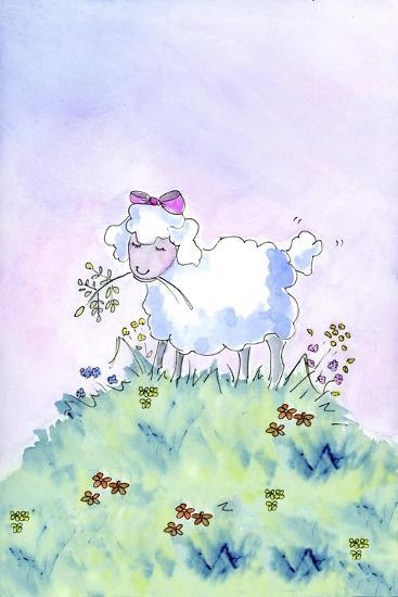 Birthday Lamb-Jennifer Zsolt-Giclee Print