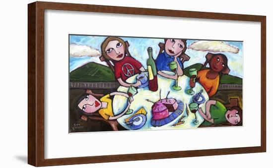 Birthday Lunch-Sara Catena-Framed Giclee Print