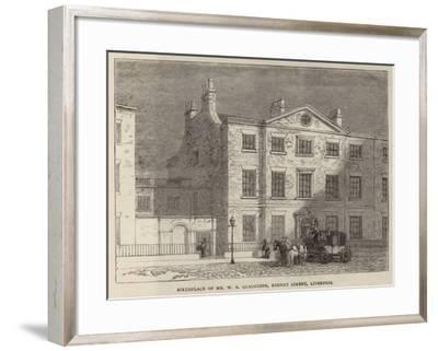 Birthplace of Mr W E Gladstone, Rodney Street, Liverpool--Framed Giclee Print