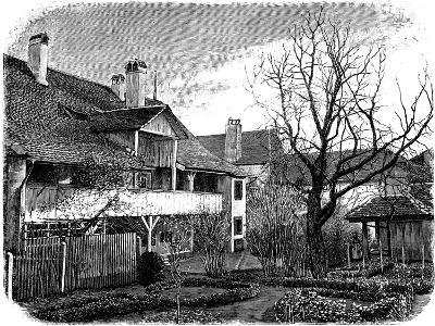 Birthplace of the Glaciologist Louis Agassiz, Motiers, Switzerland, 1885--Giclee Print
