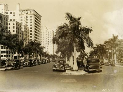 Biscayne Boulevard, Looking North from the Flagler Street Intersection, January 15, 1935--Photographic Print
