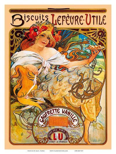Biscuits, Art Nouveau, La Belle Époque-Alphonse Mucha-Art Print