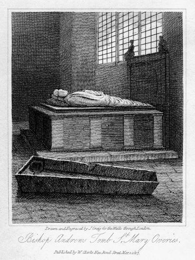 Bishop Andrew's Tomb, St Mary Overie's Church, Southwark, London, 1817-J Greig-Giclee Print