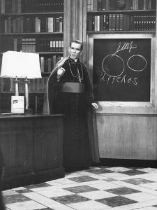Bishop Fulton Sheen Presents an Illustrated Theology Lesson on His Tv Show, Life Is Worth Living