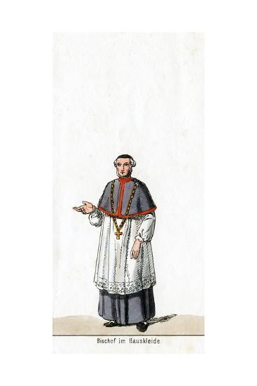 Bishop in House Dress, Costume Design for Shakespeare's Play, Henry VIII, 19th Century--Giclee Print