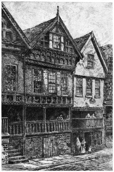 Bishop Lloyd's Palace, Chester, 1908-1909--Giclee Print