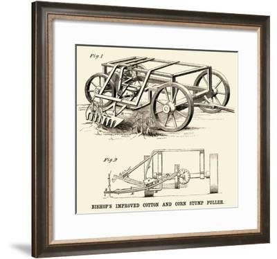 Bishop's Improved Cotton and Corn Stump Puller--Framed Art Print