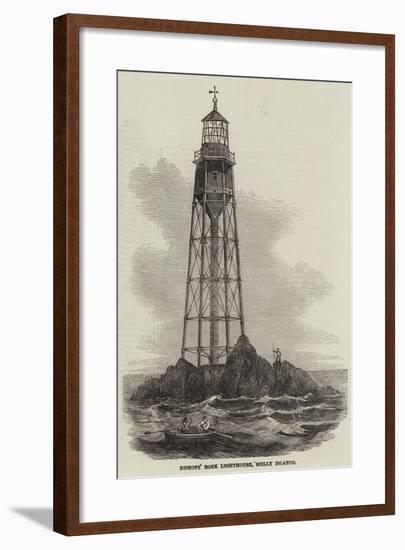 Bishops' Rock Lighthouse--Framed Giclee Print