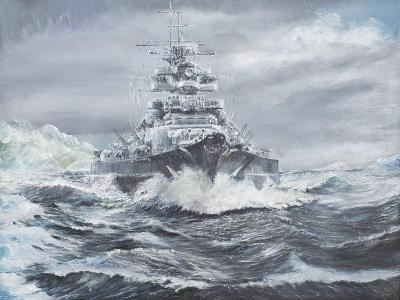Bismarck Off Greenland Coast 1900Hrs, May 23, 1941-Vincent Booth-Giclee Print