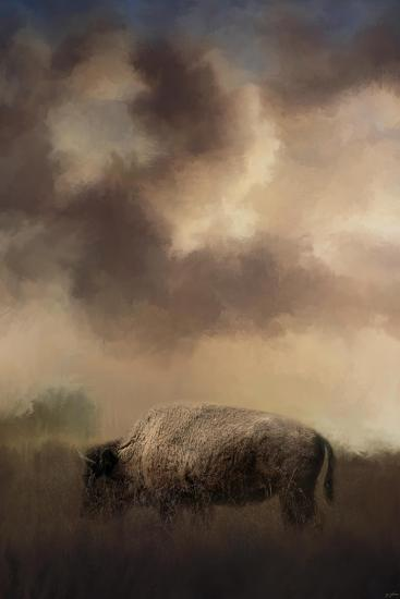 Bison Grazing at Sunrise-Jai Johnson-Giclee Print