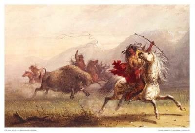 Bison Hunt-Alfred Jacob Miller-Art Print
