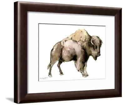 Bison-Suren Nersisyan-Framed Art Print