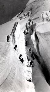 Climbers Ascending Mont Blanc, circa 1860 by Bisson Freres Studio