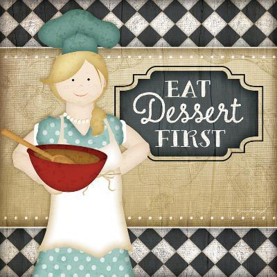 Bistro Chef Dessert-Jennifer Pugh-Art Print