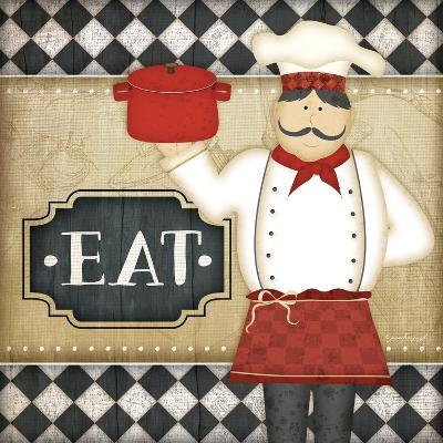 Bistro Chef Eat-Jennifer Pugh-Art Print