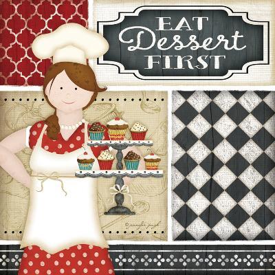 Bistro Chef-Jennifer Pugh-Art Print