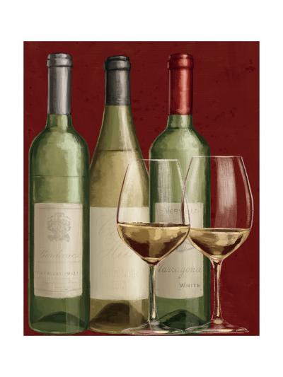 Bistro Paris White Wine-Janelle Penner-Art Print